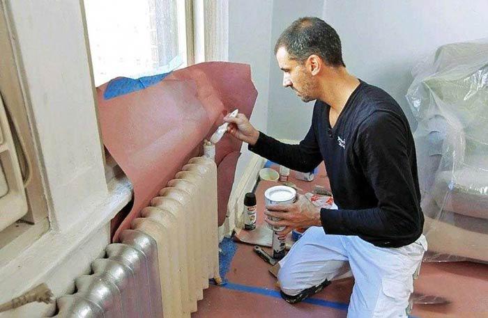 Виды красок для радиаторов отопления
